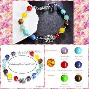 7 Chakra Healing Lotus Balance Beaded Bracelet